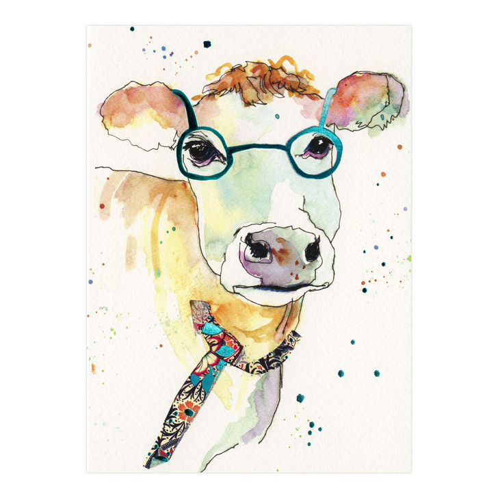 Eclectic Selection - Watercolour Cow