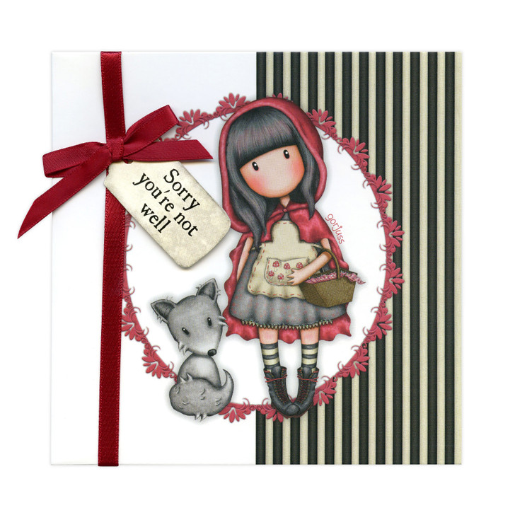 Gorjuss Greetings Card - Sorry You're Not Well