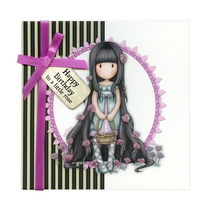 Gorjuss Greetings Card - Happy Birthday To A Little Rose