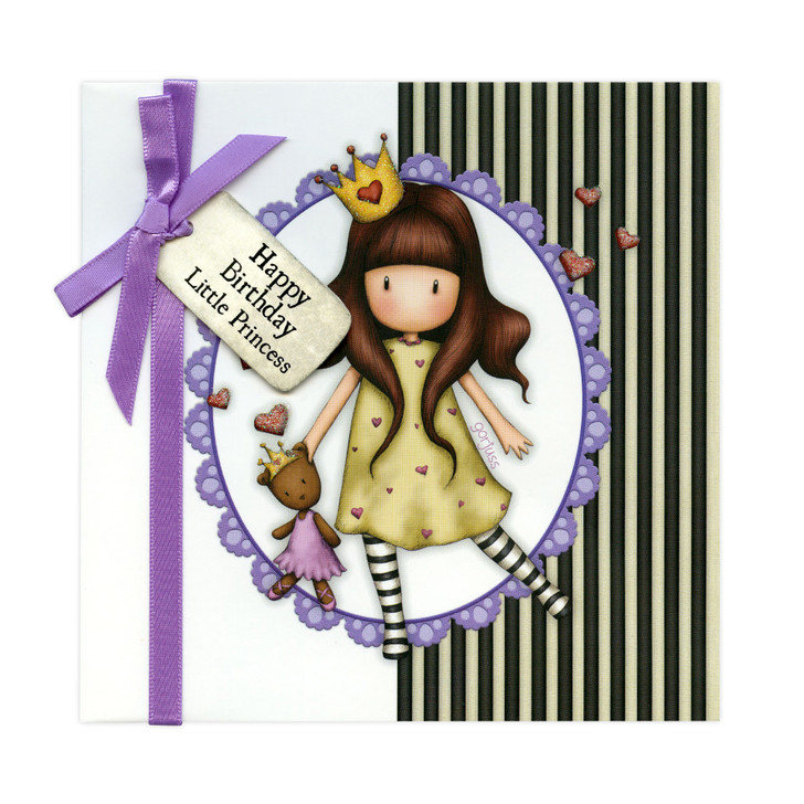 Gorjuss Greetings Card - Happy Birthday Little Princess