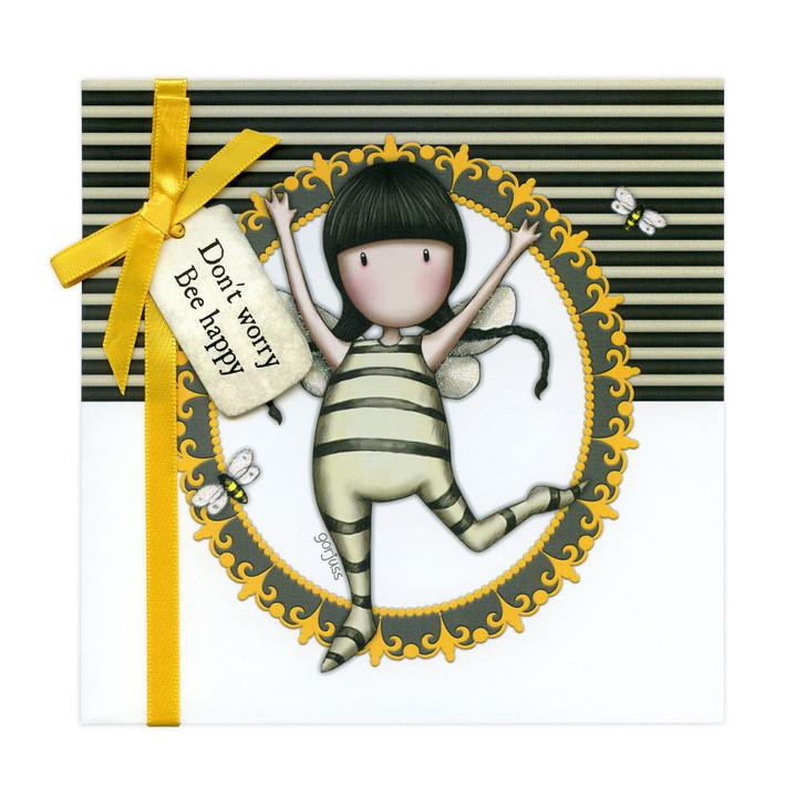 Gorjuss Greetings Card - Don't Worry, Bee Happy