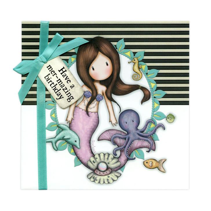 Gorjuss Greetings Card - Have A Mer-Mazing Birthday