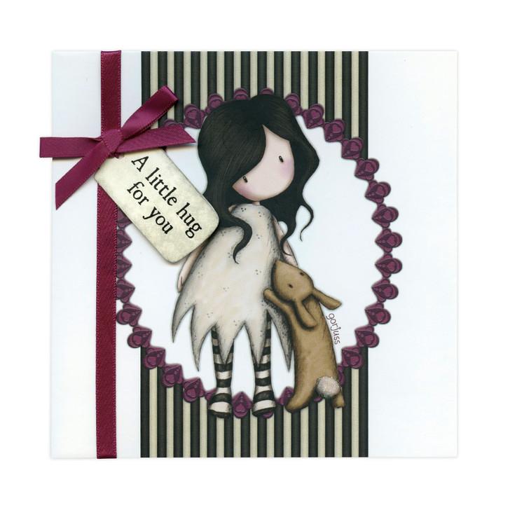 Gorjuss Greetings Card - A Little Hug For You