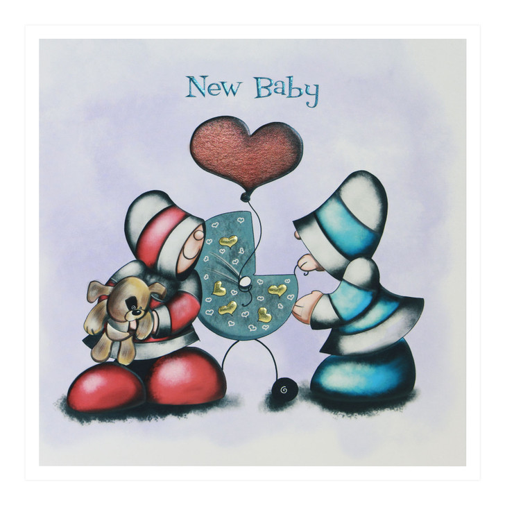 Hoodies Greeting Cards – New Baby