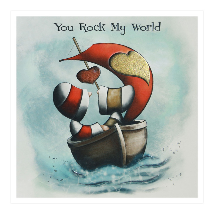 Hoodies Greeting Cards – You Rock My World
