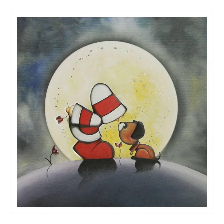 Hoodies Greeting Cards – Moonlight Kisses
