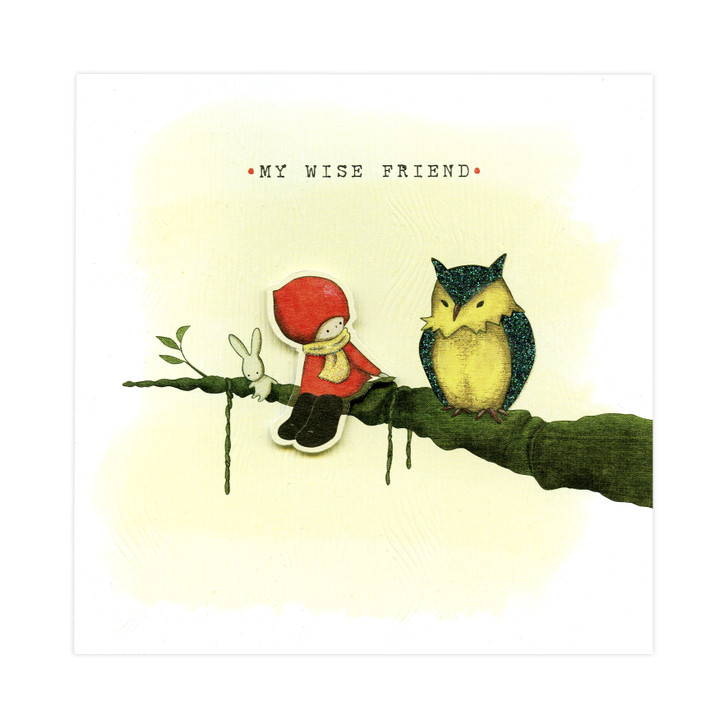 Poppi Loves... Greetings Card - My Wise Friend