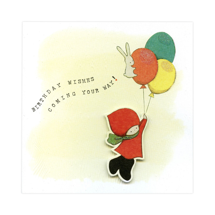 Poppi Loves... Greetings Card - Birthday Wishes Coming Your Way!