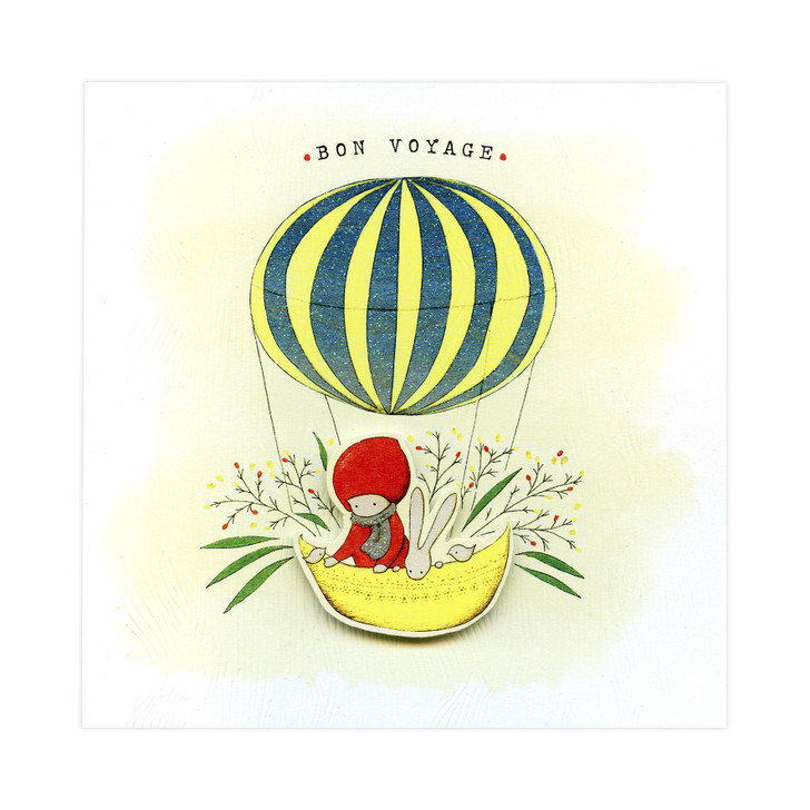 Poppi Loves... Greetings Card - Bon Voyage