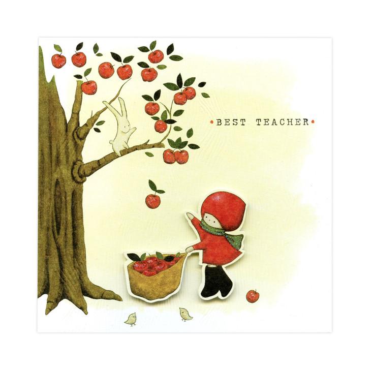 Poppi Loves... Greetings Card - Best Teacher