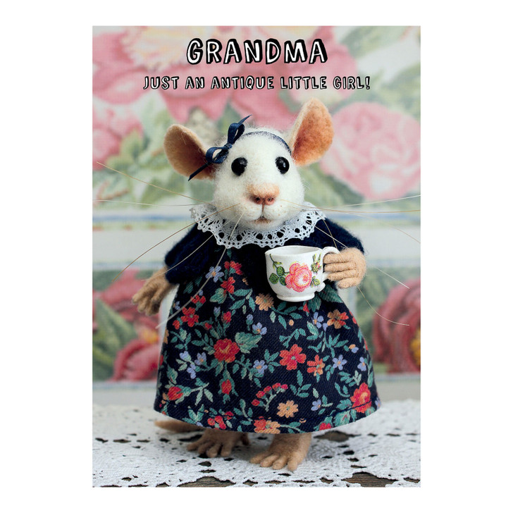 Tiny Squee Mousies - Grandma - Just An Antique Little Girl