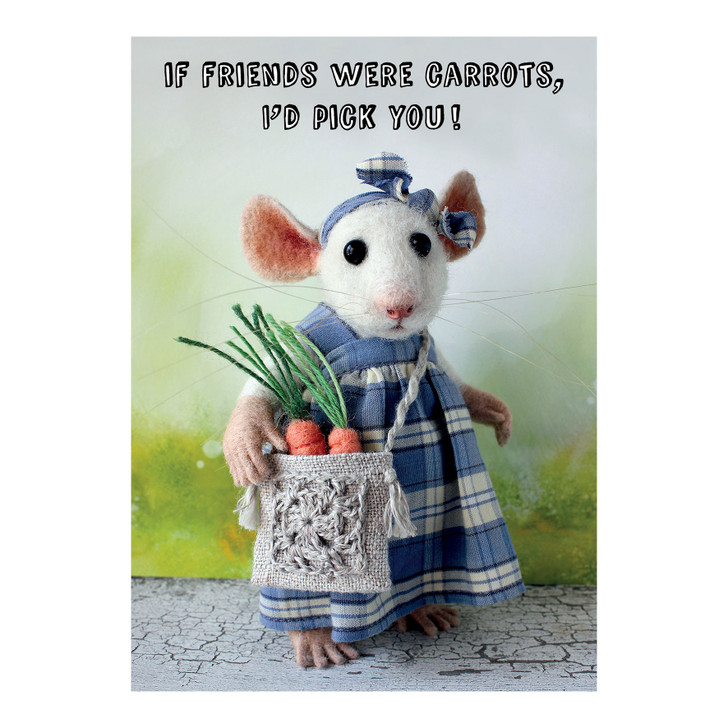Tiny Squee Mousies - If Friends Were Carrots, I'd Pick You