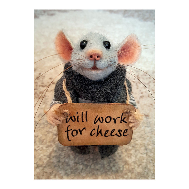 Tiny Squee Mousies - Will Work For Cheese