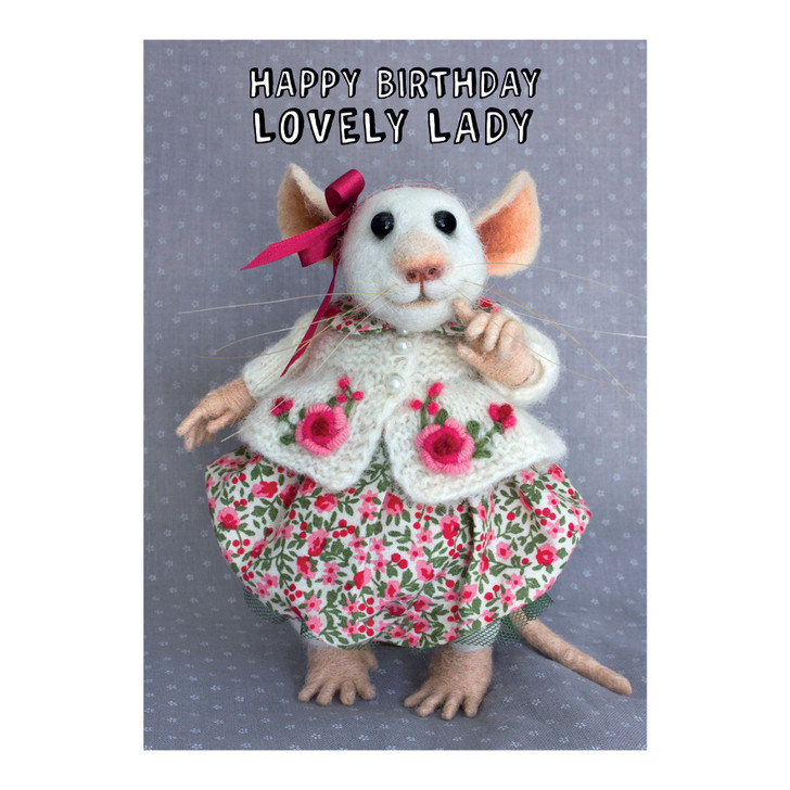 Tiny Squee Mousies - Happy Birthday Lovely Lady