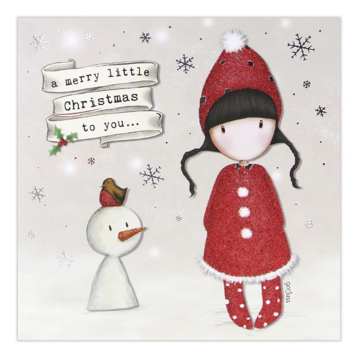 Gorjuss Christmas Collection - A Merry Little Christmas To You (Snowman)