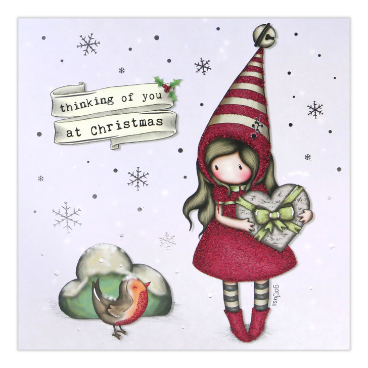 Gorjuss Christmas Collection - Thinking Of You At Christmas (Pixie)