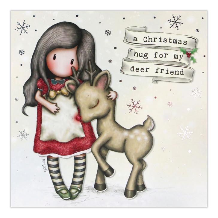 Gorjuss Christmas Collection - A Christmas Hug For My Deer Friend (Rudolph)