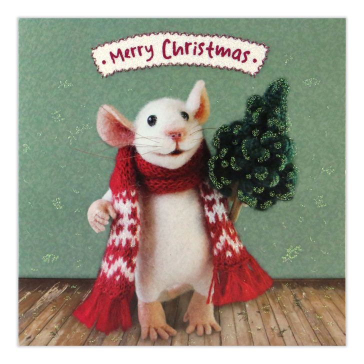 Tiny Squee Mousies - Christmas Tree Mouse - Merry Christmas