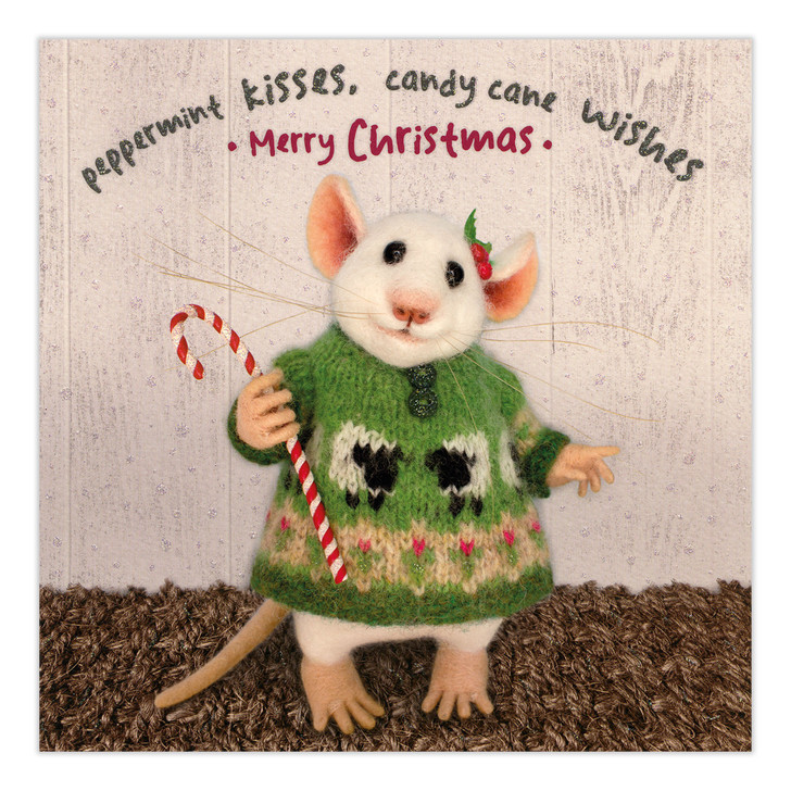 Tiny Squee Mousies - Peppermint Kisses, Candy Cane Wishes