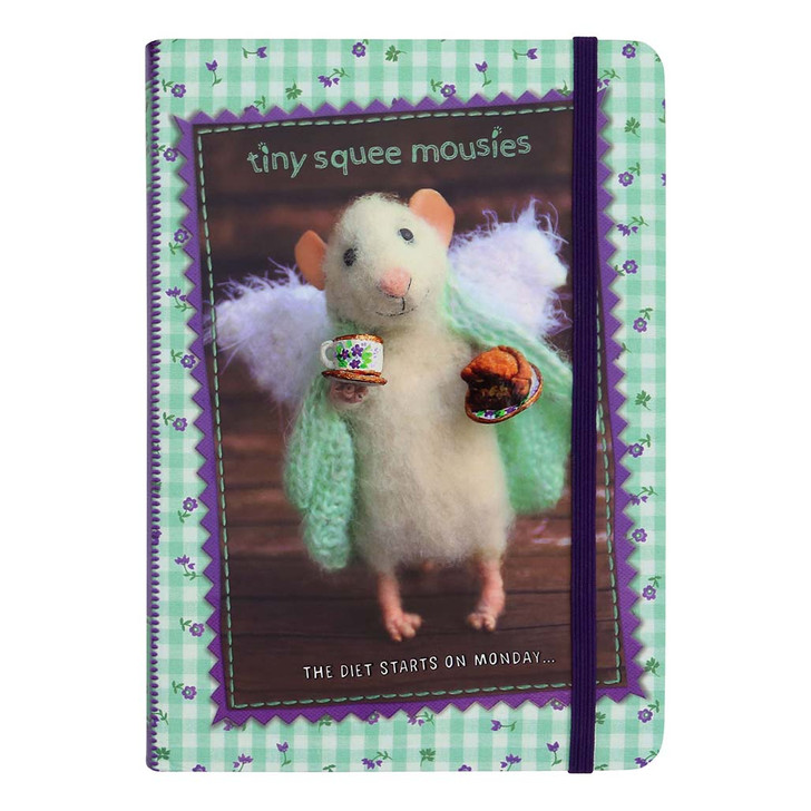 Tiny Squee Mousies - Hardcover Notebook - The Diet Starts On Monday