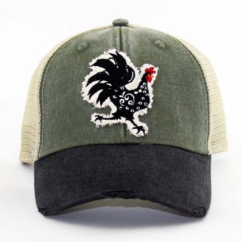 IT Hat-Distressed Trucker Cac/Blk-T