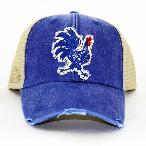 IT Hat-Distressed Trucker Royal-T