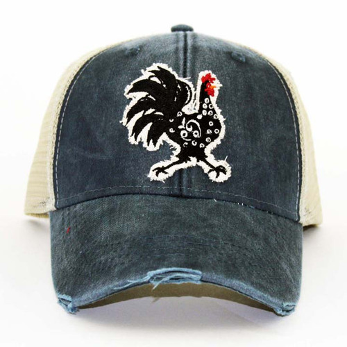 IT Hat-Distressed Trucker Navy