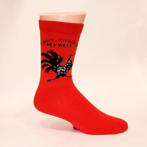 FSG Adult Socks Funky Chicken Red