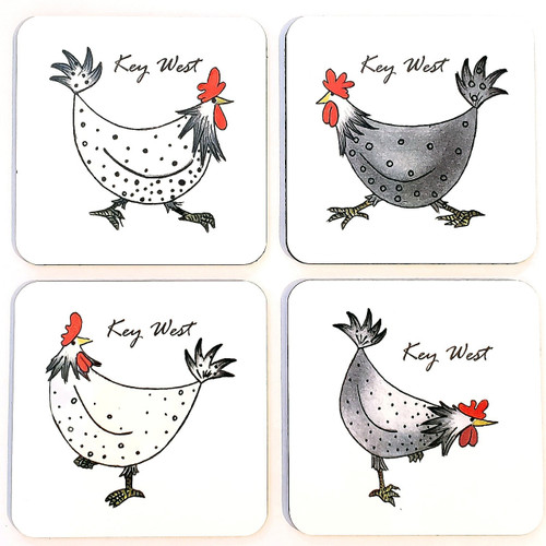 UF Chicken Party Coasters Set of 4 (W)