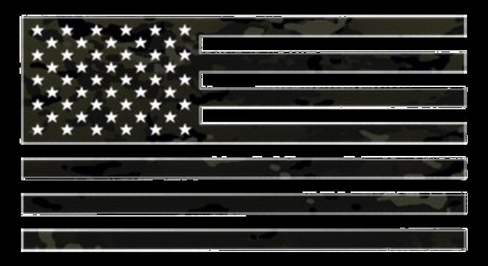 """3M MULTICAM BLACK VINYL FLAG 4""""x7"""""""