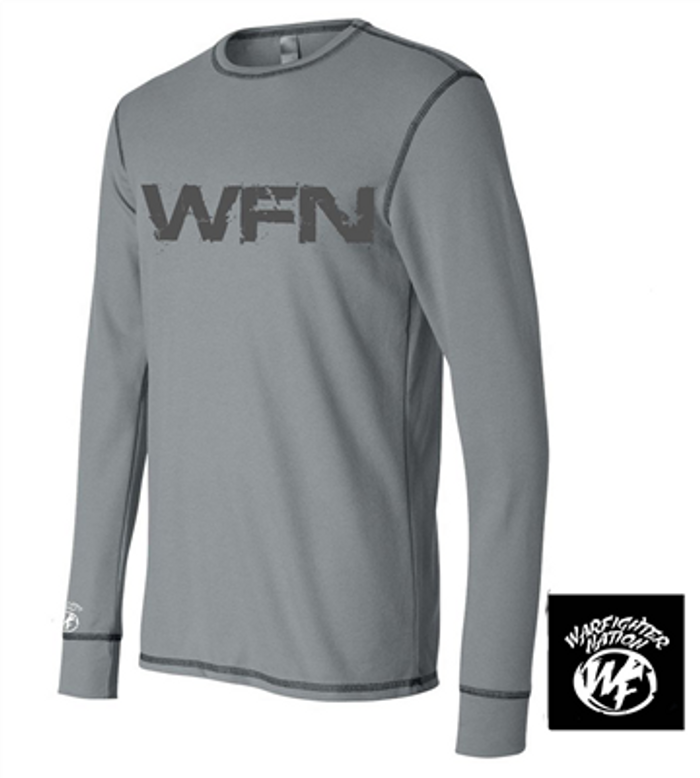 WARFIGHTER NATION LONG SLEEVE THERMAL GREY