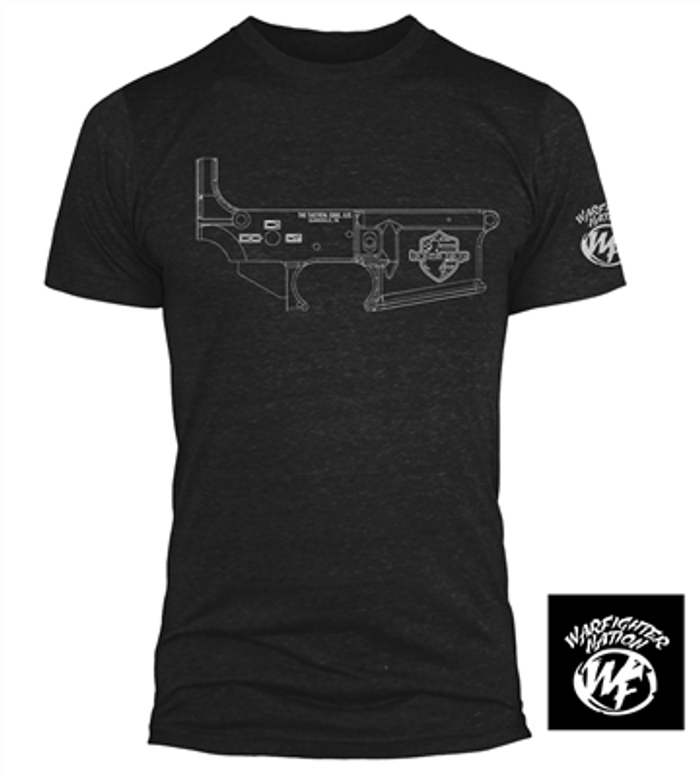 WARFIGHTER NATION FREEDOM BLUEPRINT SHIRT BLK