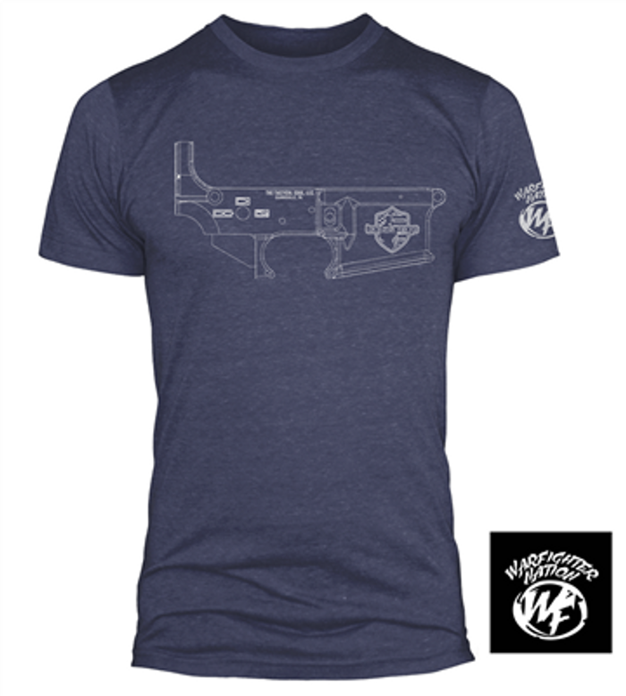 WARFIGHTER NATION FREEDOM BLUEPRINT SHIRT NVY