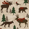 Henry Glass - Woodland Retreat Flannel - Animal Scarves - Brown