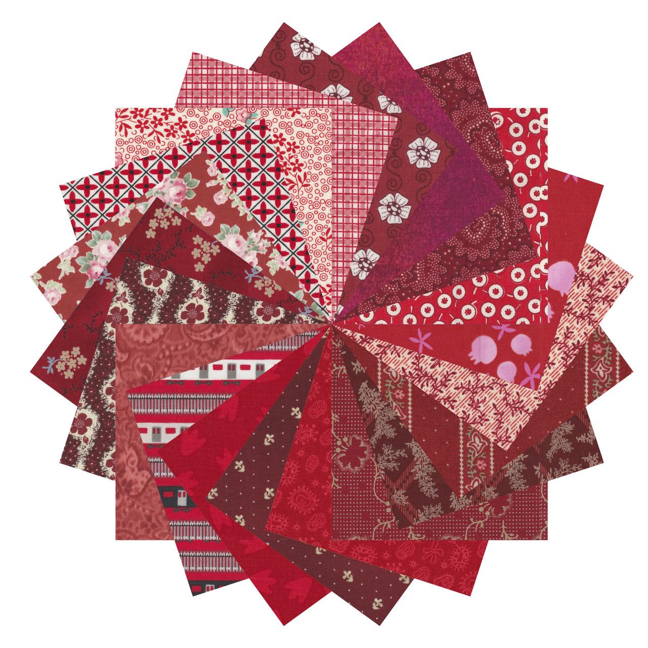 Mixed Reds Fat Quarter Bundle,Crochet Beanie Pattern