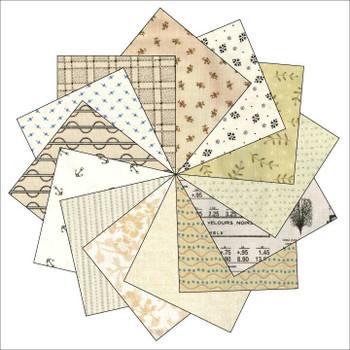 Mixed Creams - 5'' Half Square Triangles