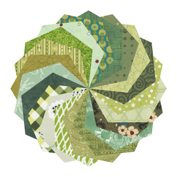 Mixed Greens - 5'' Hexagons