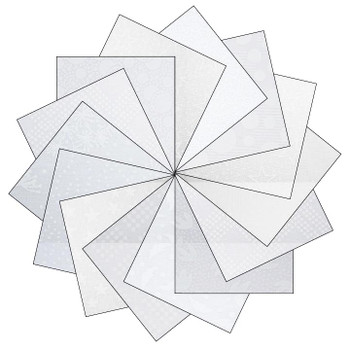 Mixed White - 5'' Squares