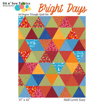 Bright Days 60 Degree Triangle Quilt Kit