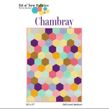 Chambray Hexies Quilt Kit