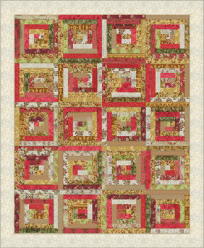 Springtime Rose Log Cabin Quilt Kit