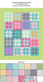Cutie Pie Pinwheel Star Quilt Kit