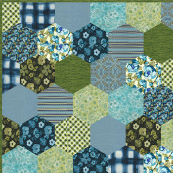 Mint Green Hexies Quilt Kit