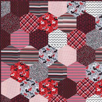 Scarlet Hexies Quilt Kit