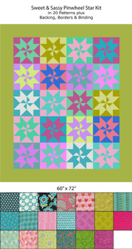 Sweet & Sassy Pinwheel Star Quilt Kit