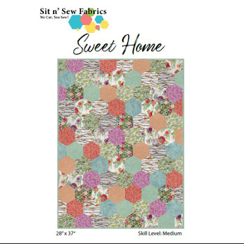 Sweet Home Hexies Quilt Kit