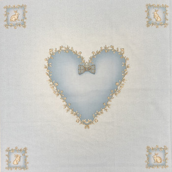 Blue Heart Pillow Panel Kit
