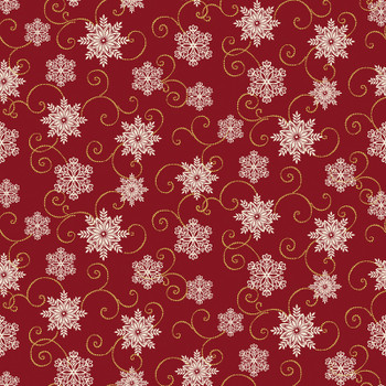 Benartex - Festive Season - Metallic Snowflakes - 2655M/10