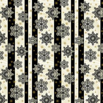 Benartex - Festive Season - Stripes & Snowflakes - 2656M/12