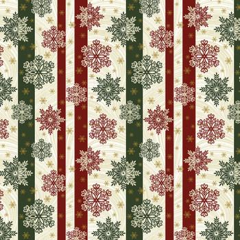 Benartex - Festive Season - Stripes & Snowflakes - 2656M/42